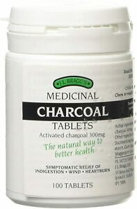 J.L Bragg's Medicinal Charcoal Tablets 300mg The Natural Way To Better Health