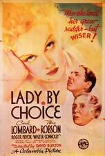 LADY BY CHOICE Movie POSTER 27x40 Carole Lombard May Robson Roger Pryor Walter