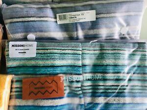 Missoni Home 2 Pk Hand Towels WOODY, REX, TABATA Set of 2 100% Cotton NW U Pick
