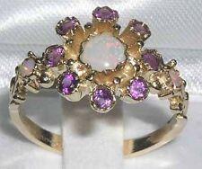 Echte Edelstein-Ringe aus Gelbgold mit Amethyst für Damen