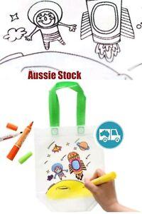 DIY Kids Craft Set Colouring In Educational Travel Activity Environmental Bag