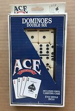 Vintage Original 1990's Carta Mundi 'Ace' Dominoes Double Six w/ Carrying Case