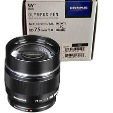 New OLYMPUS M.Zuiko Digital ED 75mm f/1.8 Lens - BLACK - Micro Four Thirds Mount