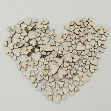 100pcs Mix Sizes Mixed Rustic Wooden Love Heart Wedding Table Scatter Decoration