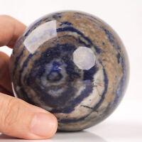 545g 73mm Large Natural Blue Sodalite Quartz Crystal Sphere Healing Ball Chakra