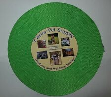 Carter Pet Supply 1 Inch Lime Green Heavy Nylon Webbing 5 Yards USA MADE