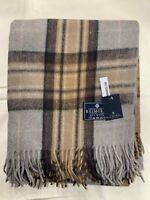 100% Wool Blanket | The House Of Balmoral Scotland | Natural Mackeller | Tartan