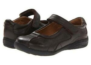 Stride Rite Girls Claire Brown Mary Jane Shoes 3W EU 35W Brown FAST SHIP! D47