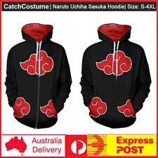 Naruto Akatsuki Cosplay Hoodie&Sweatshirt Anime Zipper Long sleeve Jacket