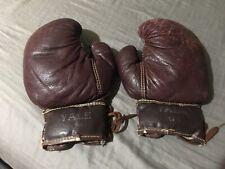 Vintage 1920's Yale boxing gloves. Antique. Memorabilia. Rare. Authentic