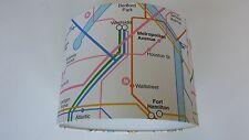 New York Subway Map, Wallpaper LAMPSHADE..Handmade.(RASCH)