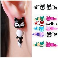 Jewelry Cute Animal Fox Ear Studs Dangle Earrings Eardrop Hook