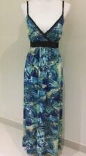 BIRD PARADISE MAXI DRESS Blue Size 8