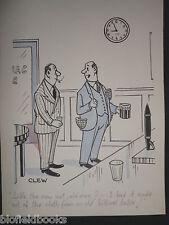 """Clifford C Lewis """"angolo di scotta"""" Originale Penna E Inchiostro CARTONE ANIMATO-BILIARDO Tuta #279"""