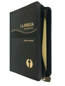 BIBLIA CATOLICA COMPACTA DIOS HABLA HOY IMITACION PIEL NEGRO DORADO CON CIERRE