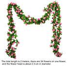 Artificial Silk Flower Rose Vine Hanging Garland Plant Home Garden Wedding Decor