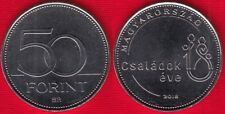 """Hungary 50 forint 2018 """"Year of the Family"""" UNC"""