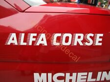 "18"" alfa corse romeo fender SunStrip Windshield Decal Sticker 155 v6 ti dtm btcc"