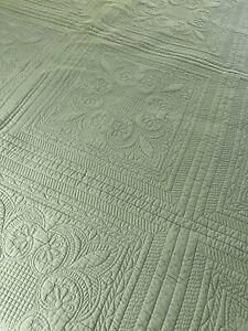 Vintage Tin Ceiling Tile Quilting Cotton Quilt 106X93 KING #450