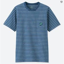 Uniqlo SPRZ NY Keith Haring Striped Blue Pocket UT Graphic Tee T-Shirt XXS