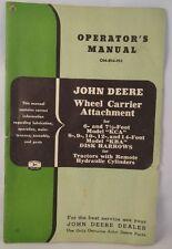 John Deere Wheel Carrier Attachment Manual OM-B34-953+ KBA Disk Harrow Manual
