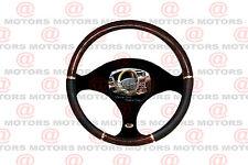 """New Burlwood Chrome Black Steering Wheel Cover Luxury Interior All Models 14.37"""""""