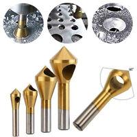 Plastic Titanium Coated HSS Countersink Deburring Drill Bit For Metal Steel