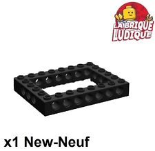 Lego Technic - 1x Brique Brick 6x8 open center noir/black 40345 NEUF