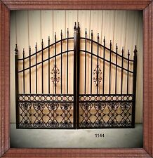 Driveway Gate 10 Ft Wide Dual Swing With Post Package & Shipping* Residential