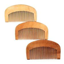 Hair Comb Engraved Natural Peach Wood Wooden Comb Anti-Static Beard Comb Tool