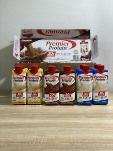 Premier Protein High Protein Shakes Variety 12 Chocolate, Vanilla, Bananas Cream
