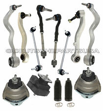 CONTROL ARMS BALL JOINTS TIE RODS ENGINE TRANNY MOUNT fr BMW E60 SUSPENSION KIT