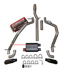 14-19 Chevrolet Silverado GMC Sierra Dual Exhaust Kit w/ Flowmaster Super 44