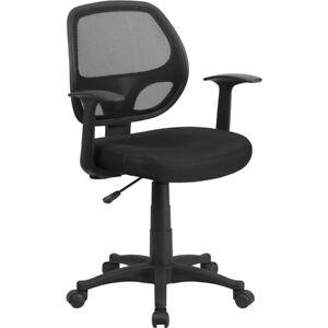 Flash Furniture Black Mesh Chair, Black - LF-W-118A-BK-GG