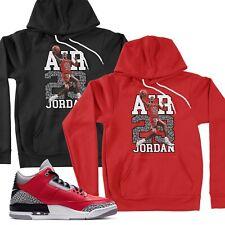 Pullover Hoodie Match 23 Michael Air Jordan Retro SE Unite Fire Red Cement