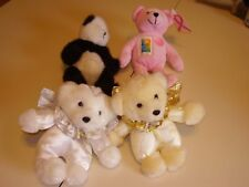 Teddy Bears * Lot Of Four Different Teddy Bears * 7 to 9 Inches Tall