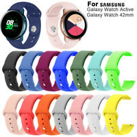 Watch Band Silicone Strap Quick Release For Samsung Galaxy Watch Active 42mm~