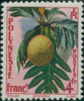 French Polynesia 1959 Sc#192,SG18 4f Tropical Fruit artocarpus MNH