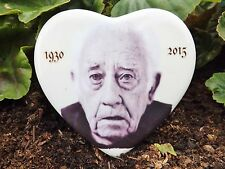 "Personalised Heart Grave Side Memorial Photo Plaque 4"" Ceramic memorial tile"