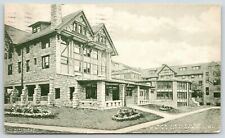 Excelsior Springs Missouri~New Elms Hotel Close Up Back~Round Windows~1909 B&W