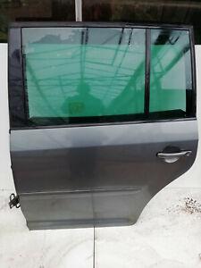 VW TOURAN 2004 - 2009  LEFT PASSENGER SIDE (N/S) COMPLETE REAR DOOR - GREY LK7X