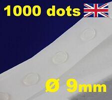 Nuevo 1000 puntos de pegamento pegajoso Craft claro tarjeta haciendo chatarra extraíble 9mm fácil Tachuela