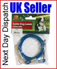 Camping Tent Awning Garden Dog Lead Dog Strong Tie out Cable Tether 6ft 1.8m