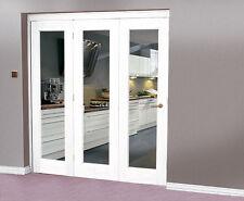 White Interior bi fold doors - 3 door system 2130 x 2078 high