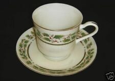 Holly Holiday Cup & Saucer Bone China by Royal Limited