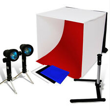 Photo Studio Light Tent Lighting Cube Softbox Soft box Camera Tripod Backdrops