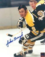 BOSTON BRUINS JOHNNY BUCYK SIGNED 8x10 PHOTO w/COA