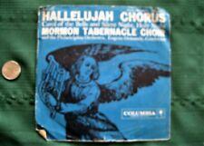 "Old 45 RPM vinyl record ""HALLELUJAH CHORUS MORMON TABERNACLE CHOIR & Phil Orch"""