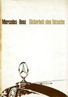 2180MB Mercedes Sicherheit Prospekt 1967 9/67 deutsche Ausgabe brochure broschyr