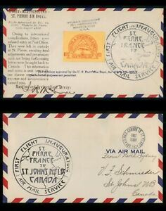 Mayfairstamps Canada First flight Cover 1931 St Pierre Maritime & Newfoundland A